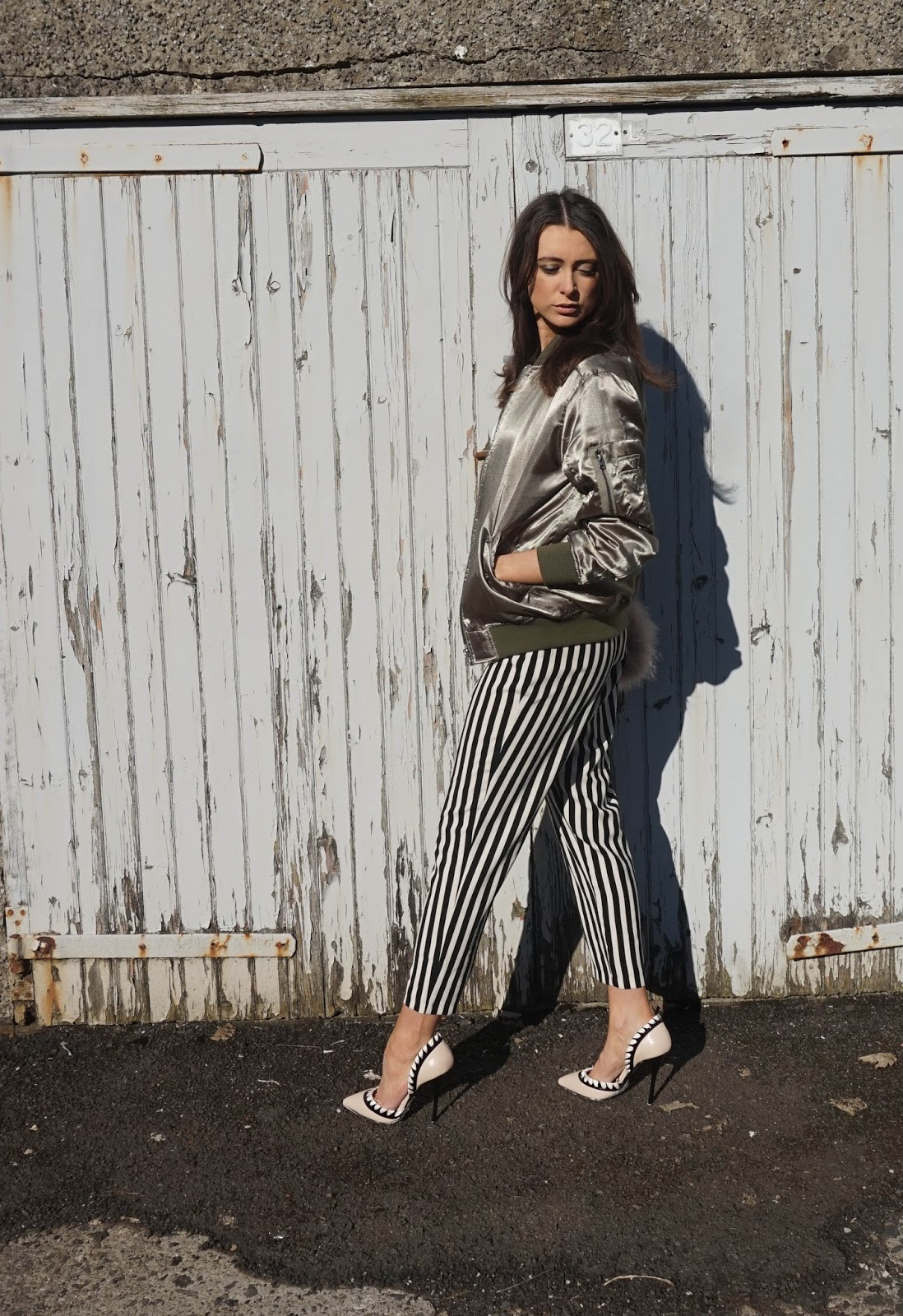 Day to Night: Striped Trousers
