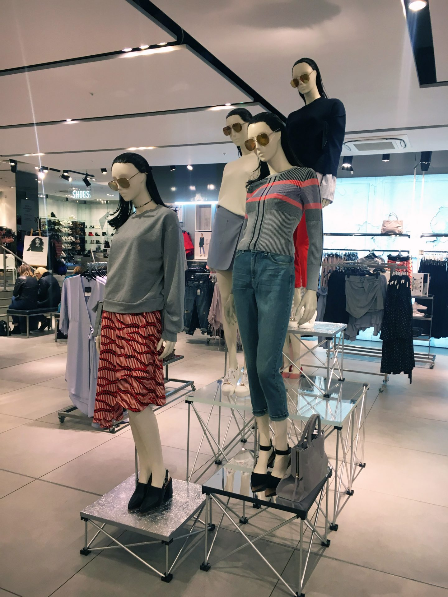 TOPSHOP PERSONAL SHOPPING GLASGOW SPRING TREND EVENING WITH I-ON MAGAZINE